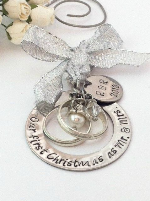 Personalized Wedding Christmas Ornament Our First Christmas as Mr. & Mrs. Mr.  Mr. or Mrs. Mrs. with Couples Initials and Year on Etsy, $33.24