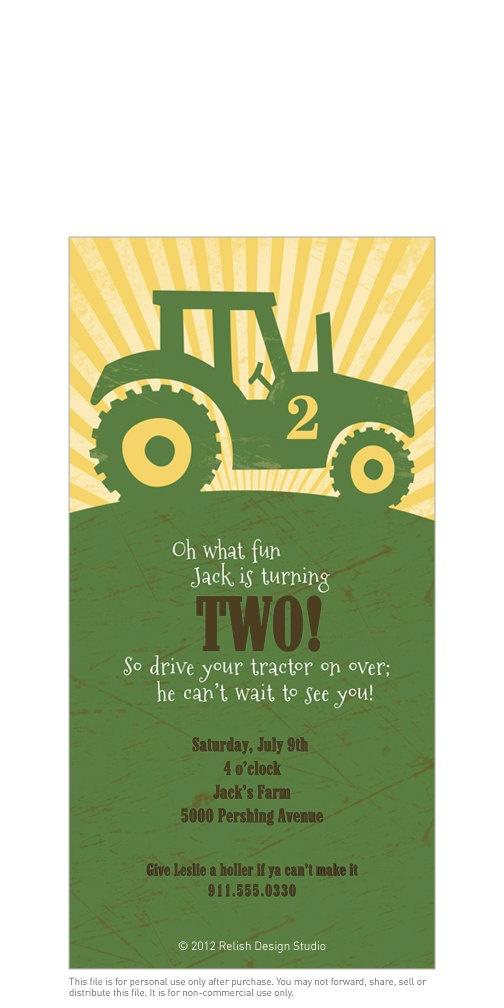 Best 25 Tractor birthday invitations ideas – John Deere Printable Birthday Invitations