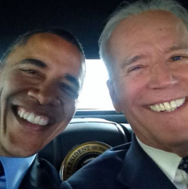 Joe Biden Posts the Best Selfie of All Time with Barack Obama