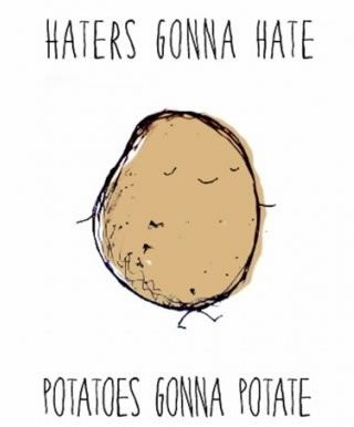 I pinned this for you because Jinneane calls you a potato and this is a cute potato