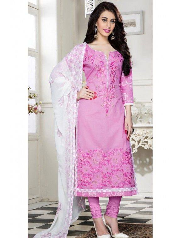 Divine Light Pink Embroidered Salwar suit