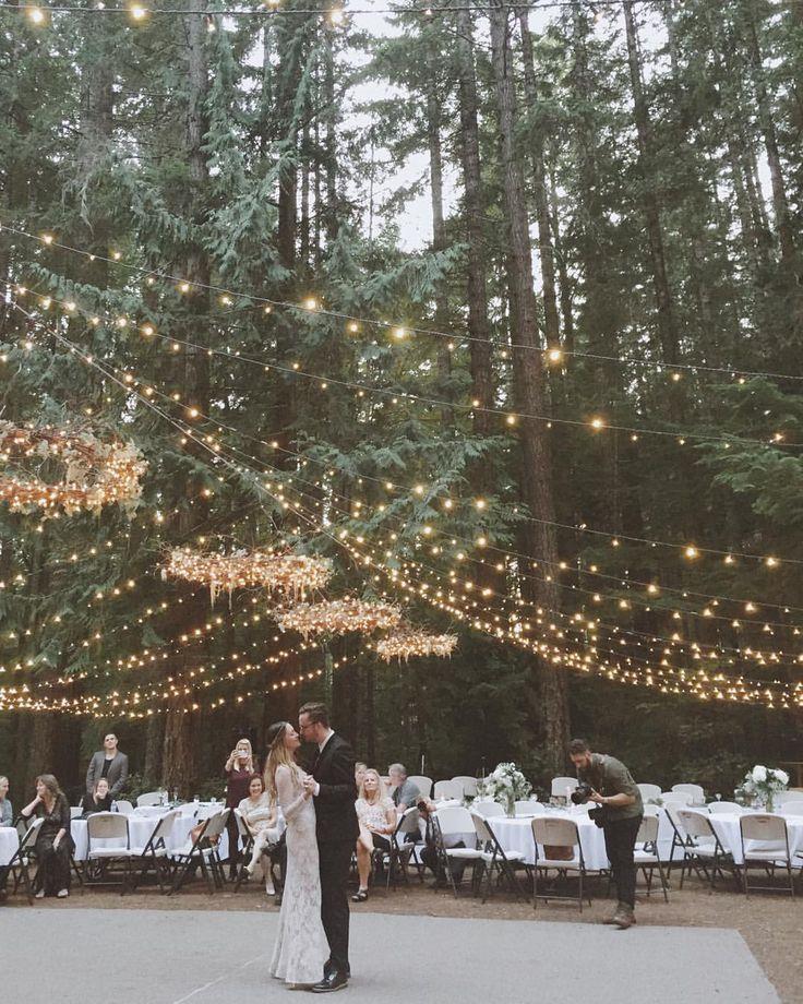 Inspiração de casamento ao ar livre || Luzes