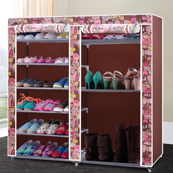 210d oxford cloth shoe shoe rack simple shoe cabinet fully enclosed shoe