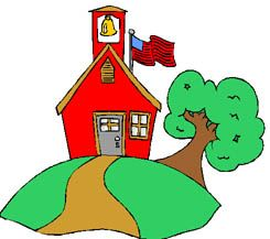 school house clip art | Free Back to School Clipart - Classroom Graphics