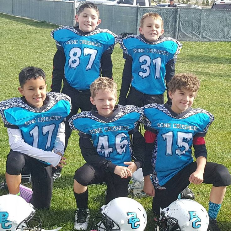 this team from nm is sporting a custom shade of blue bones spelling out their team name and our creepy numbers football footballer footballmom - Shades Of Blue And Their Names