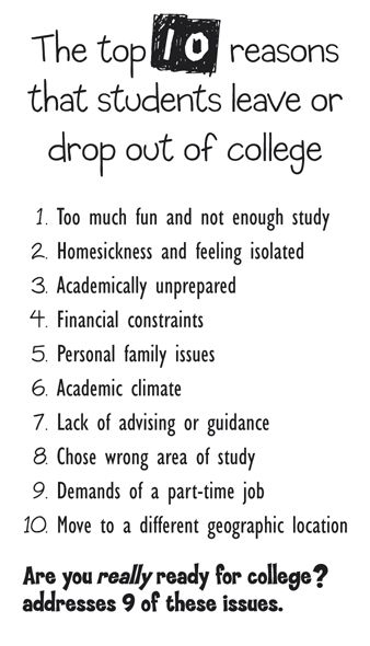 the reasons of college students drop Learn 10 popular reasons why college students drop out to prevent yourself from making this silly mistake.