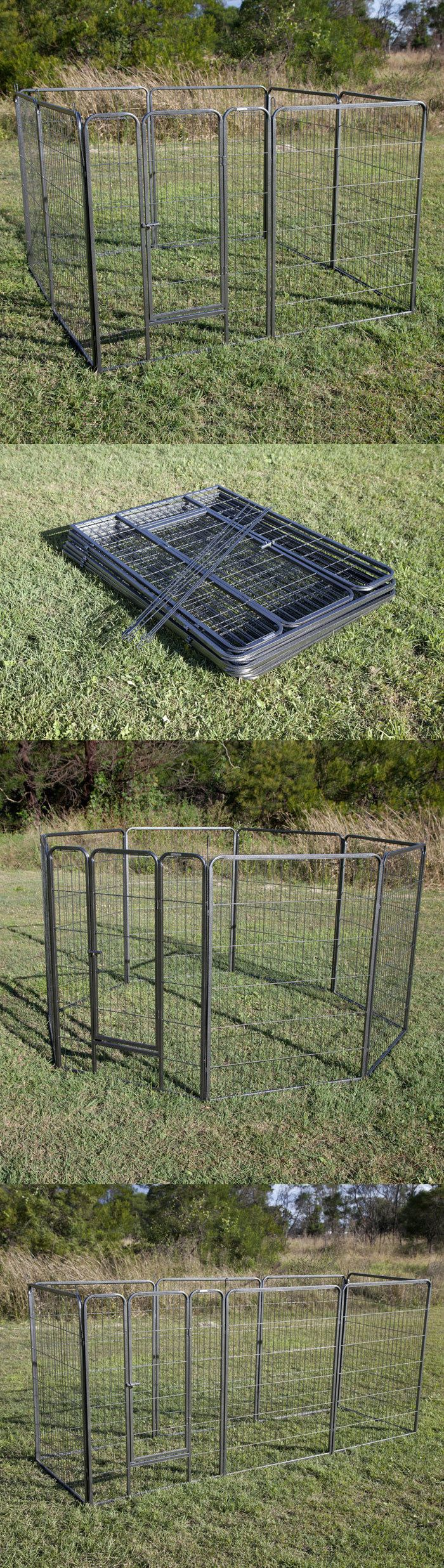 Fences and Exercise Pens 20748: 43 Height 8 Panel Pet Pen Enclosure Cage Playpen Run For Dog Chicken BUY IT NOW ONLY: $99.0