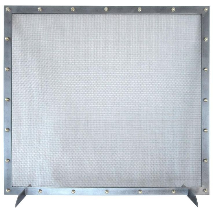 Modern Fireplace Screen   From a unique collection of antique and modern fireplace tools and chimney pots at https://www.1stdibs.com/furniture/building-garden/fireplace-tools-chimney-pots/