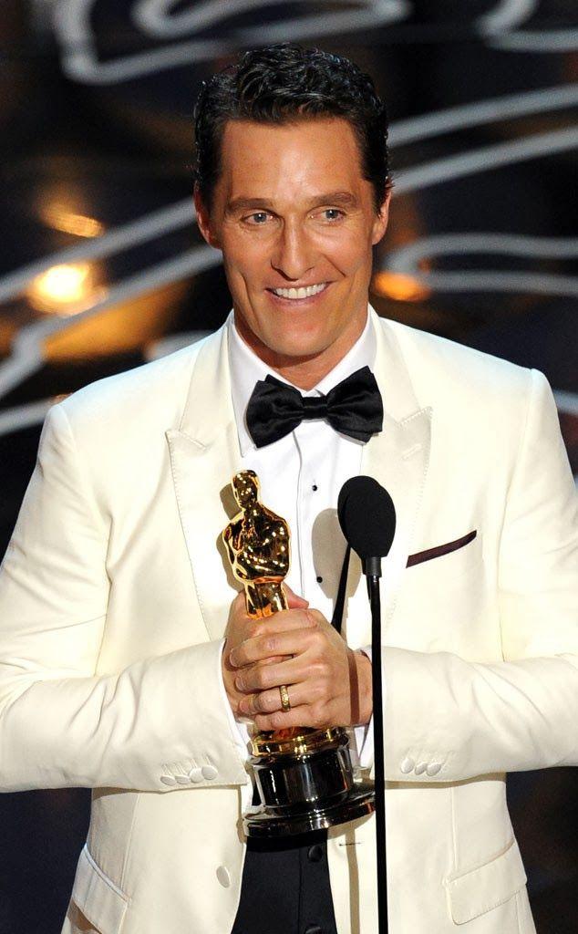 Matthew McConaughey, #Oscar winner for Best Actor, Dallas Buyers Club