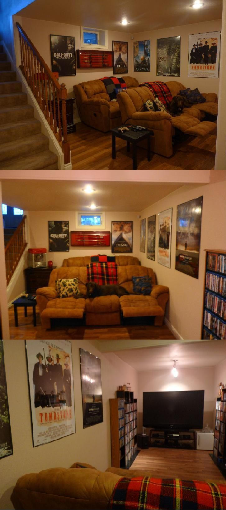 basement home theater i would put carpeting down and have more seating in front this is awesome [ 726 x 1634 Pixel ]