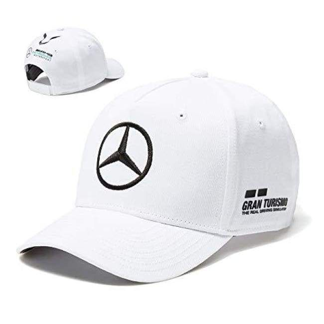 a5c0b725b89 2018 Mercedes-AMG F1 Lewis Hamilton Drivers Cap (WHITE) Adult One Size