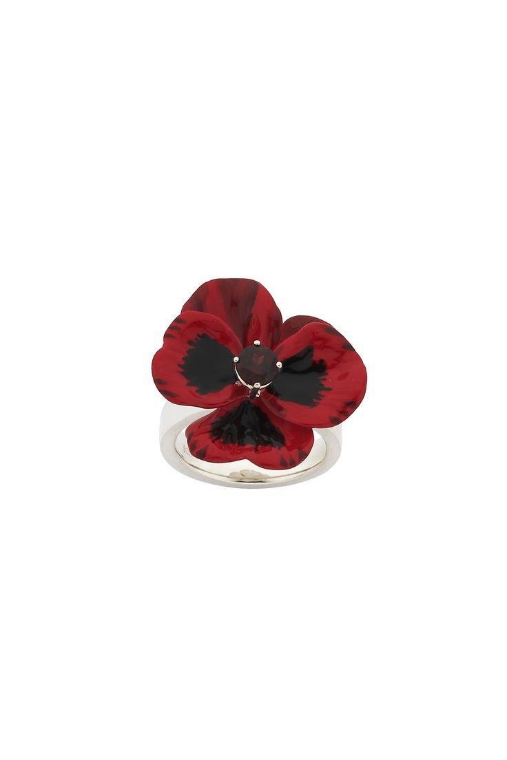 Красный Цветок Кольцо - Все Ювелирные Украшения   Карен Уолкер