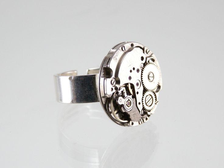 Anillo Reloj Estilo Steampunk de KIDEA en Etsy