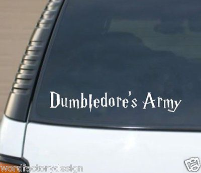 Harry potter inspired dumbledores army d macbook vinyl decal to put on laptops car windows phone or anything you can imagine