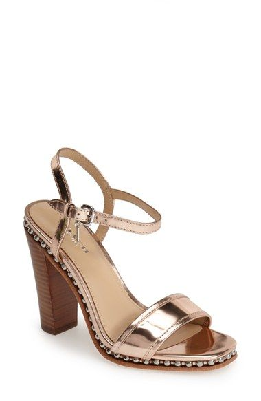 COACH 'Farrah' Leather Ankle Strap Sandal (Women) available at #Nordstrom