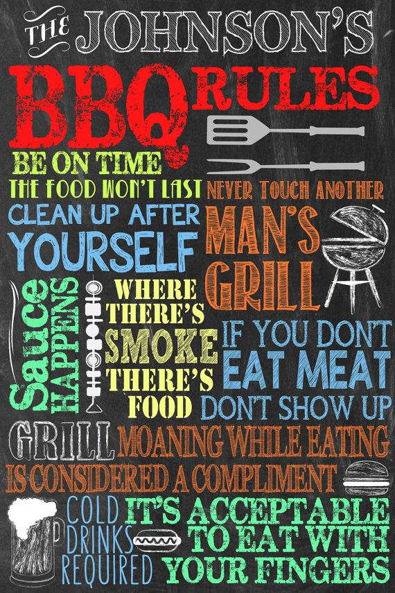 Aangepaste BBQ Sign  Perfect voor de gift door CustomPrintablesNY