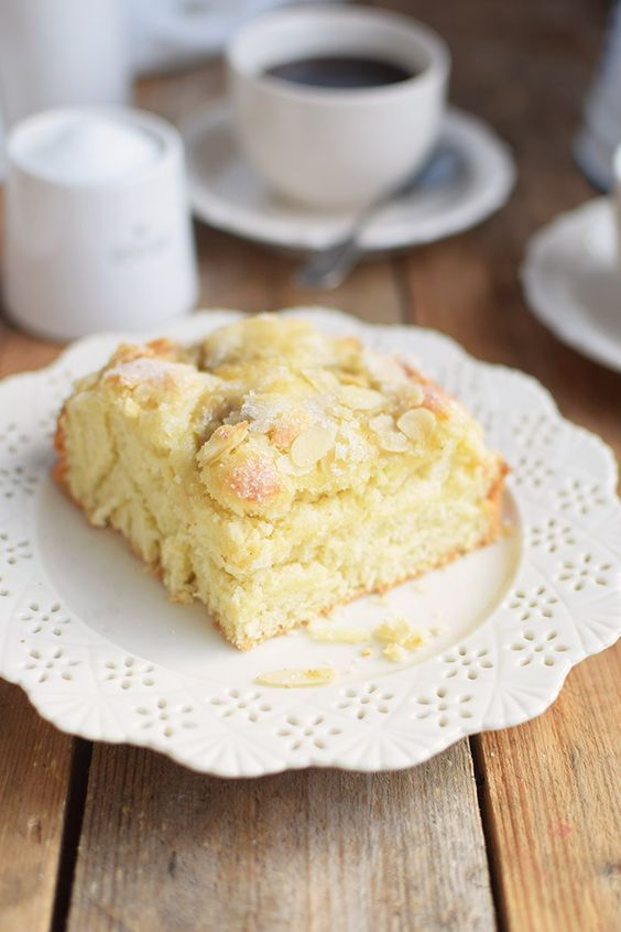 Butterkuchen mit Pudding - Butter Custard Cake Rezept Recipe | Das Knusperstübchen