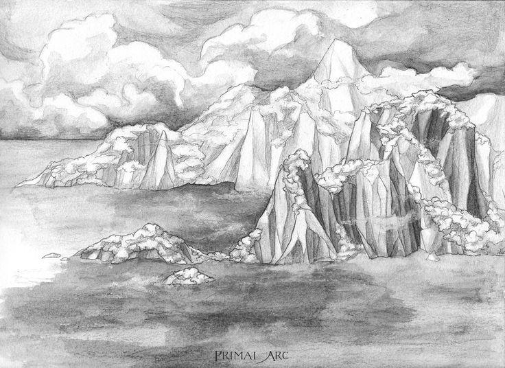 'Inbetween: Mermaid Island', water-soluble graphite. www.primalarc.com