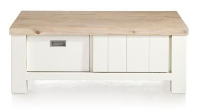 The Istrana coffeetable has two sliding doors and two drawers.