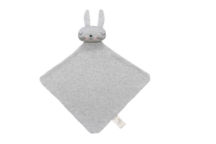 Gorgeous unisex comforter made in the softest grey marle cotton. Our  precious Bun Bun will be your babies new best friend !