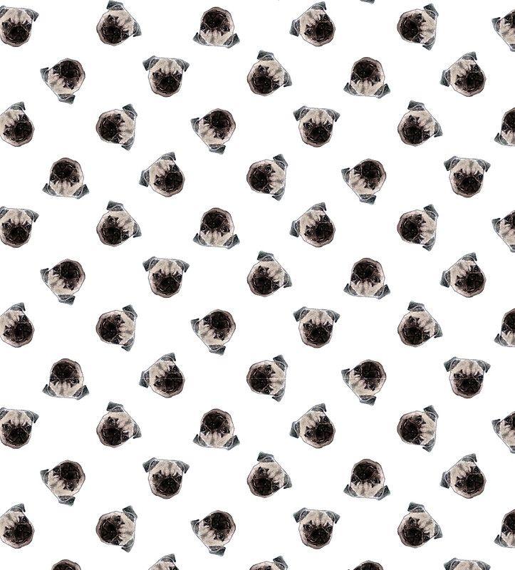 white pug pattern by -vovs-