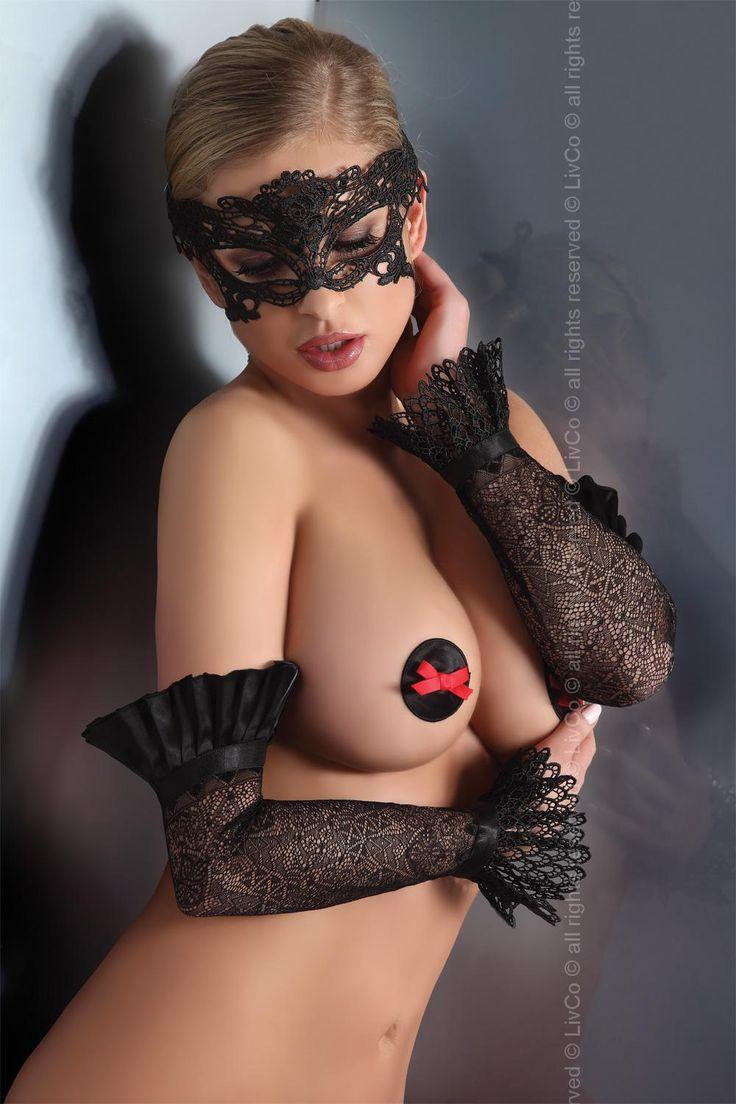 Piękna kusząca erotyzmem maska wenecka