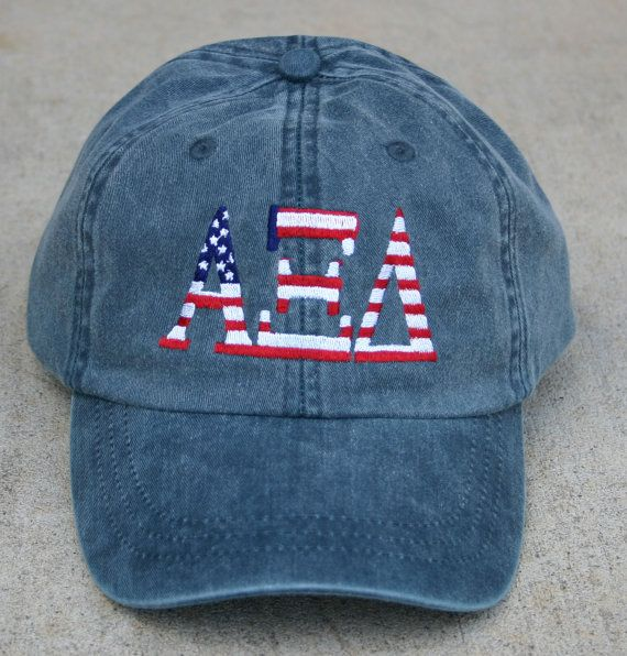 Alpha Xi Delta American Flag Cap by hyunich on Etsy