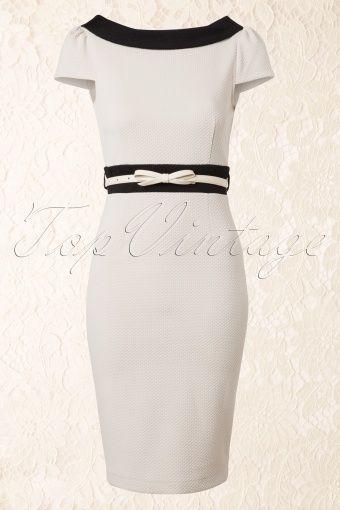 Paper Dolls Cream and Black Pencil Dress 100 51 13890 20140715 0007W