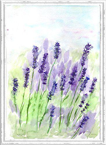 Malerei Lavendel Original Aquarell Gemälde Malen Bild Anstrich Bemalung  Anstreichen Wand Kunst Kunstwerk Natur Liebhaber Geschenk