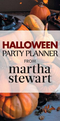Free Martha Stewart Halloween Party Planner - Packed full of check lists, useful tips, and delicious recipes.