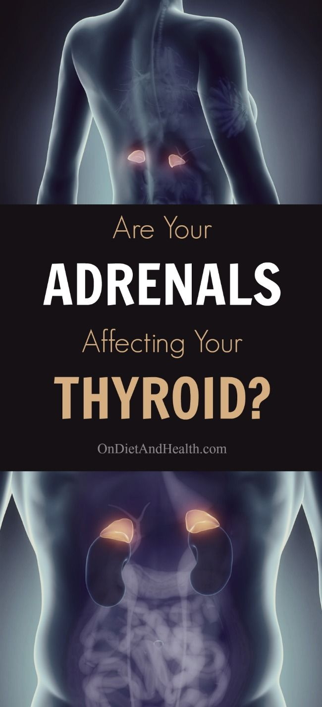 The connection between #thyroid and #adrenal problems // OnDietAndHealth.com