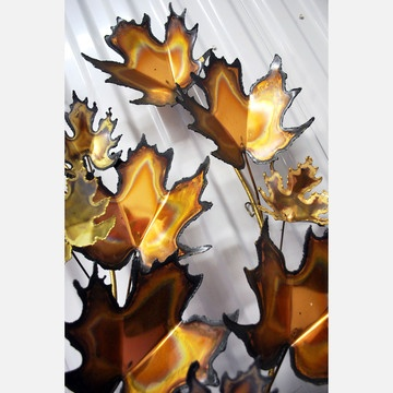 1000 images about copper on pinterest maple leaves red for Metal leaf wall art