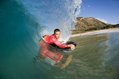 How to ride the barrel on a bodyboard