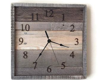 Rustic Home Decor Reclaimed Wood Pallet Wood Wall Clock by RayMels