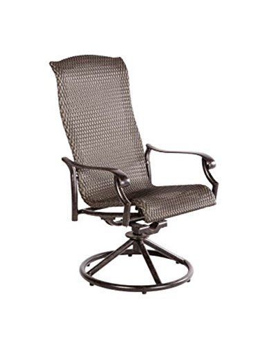 Barbados All-Weather Wicker Swivel Dining Chair - Set of 2. Set of 2. High back. Durable aluminum frame. Stainless steel hardware. Baked on powder coated frame finish.