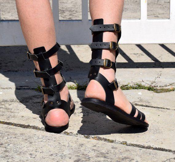 Summer Beach Sandals Greek Ancient Spartan Sandals Handmade Roman Leather Sandals for Women and Men Gladiator Women/'s Shoes LONDON