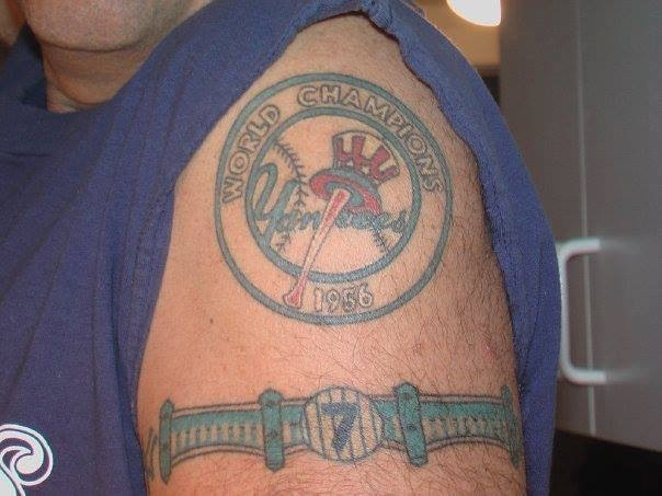 27 best new york yankees tattoos images on pinterest for New york yankees tattoo
