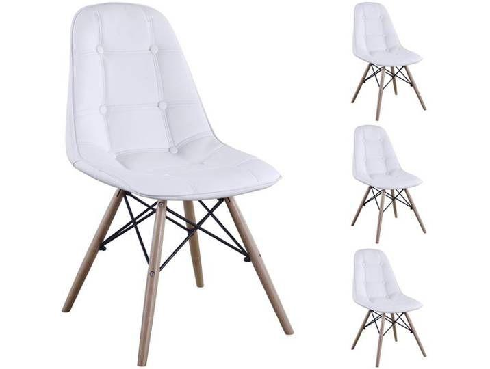4er Set Design Esszimmerstuhl Cesar Weiss Furniture Chair Home Decor