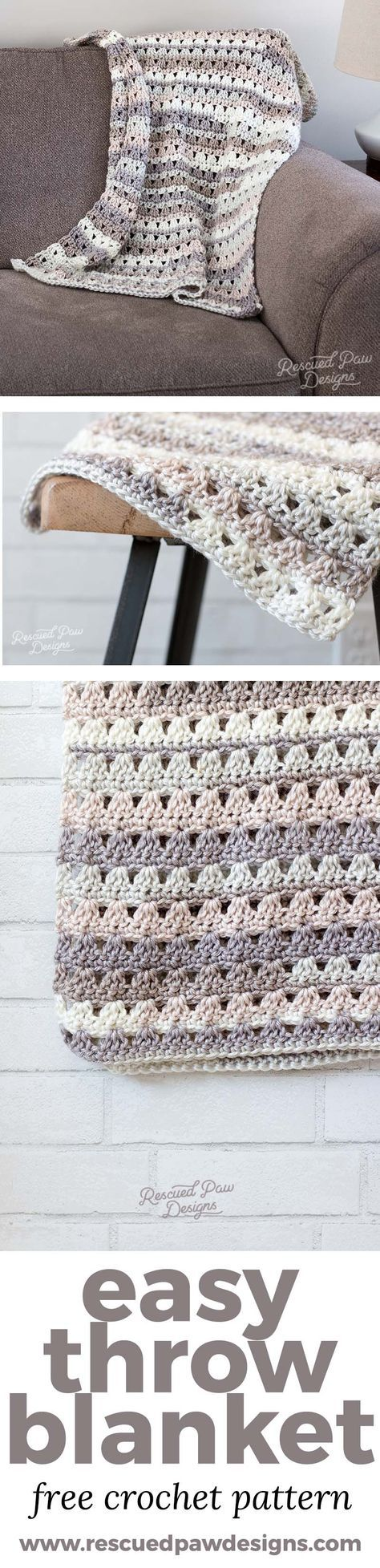 191 best Crochet ~ Afghans images on Pinterest | Knitted afghans ...