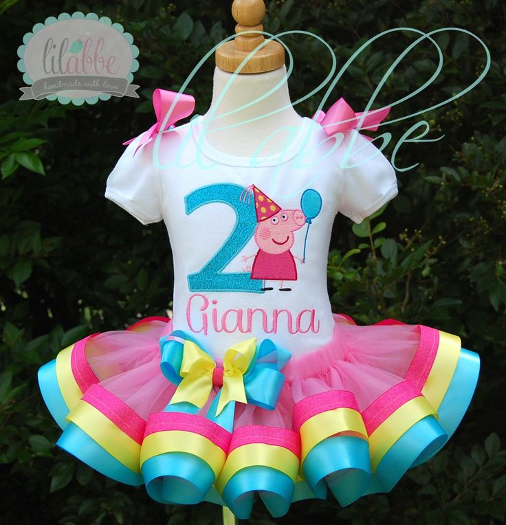 Peppa Pig Inspired Tutu Set~Includes Top, Ribbon Tutu, Hair Bow~Exquisitely FUN! by lilabbehandmade on Etsy https://www.etsy.com/listing/200558368/peppa-pig-inspired-tutu-setincludes-top