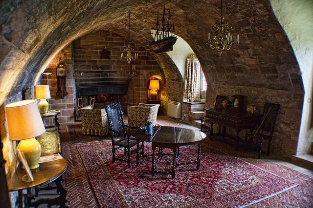 the ship room of lindisfarne castle designed by sir edwin lutyens via mahala knight