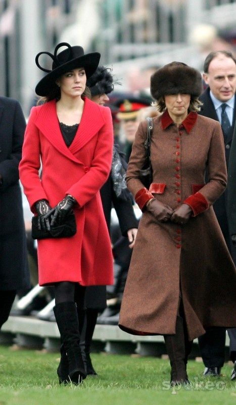 December 2006. Kate Middleton and her family attend the Sovereign's Parade at the Royal Military Academy Sandhurst