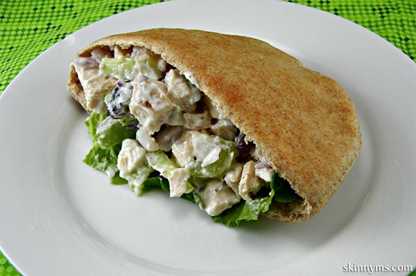 Clean Eating Chicken Salad - red seedless grapes, onions, and Greek yogurt make this so yummy and healthy! #CleanEating