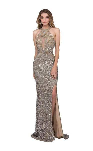 87c1765dcc58 A sophisticated take on glamour, this is a stunning halter-style evening  dress from the house of Cecilia Couture. It features a halter neckline  bodice with ...