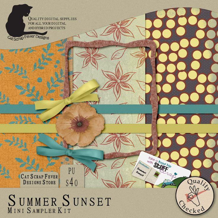 Summer Sunset mini kit by Cat Scrap Fever
