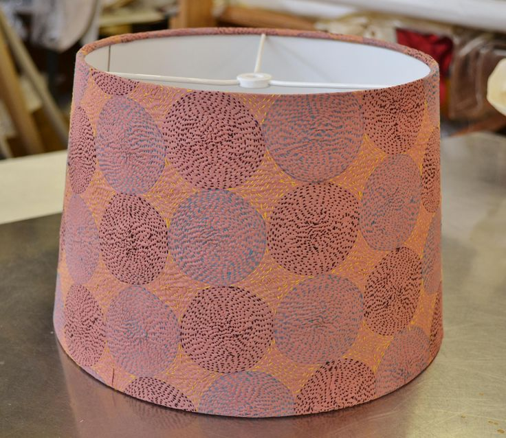 Beautiful COM vintage fabric on this lampshade. Our customers do spoil us…