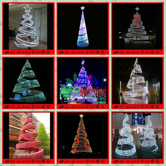 led spiral tree white outdoor lighted christmas trees giant christmas tree