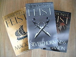 The Riftwar Saga by Raymond E. Feist, Magician, Silverthorn and Darkness at Sethanon.  My favorite series of books.  Ever.