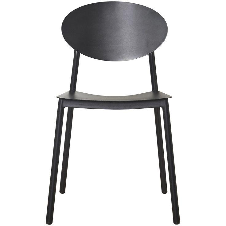 Walker stol fra House Doctor. En enkel og sjarmerende stol med runde former i svart. Stolen utstråle...