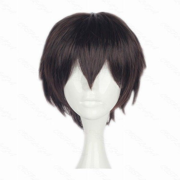 COSPLAZA Cosplay Wig Bungo Stray Dogs Osamu Dazai Short Brown Boy... ($16) ❤ liked on Polyvore featuring beauty products, haircare and hair styling tools